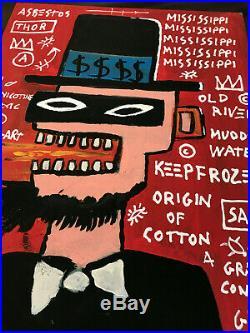 Jean-Michel Basquiat Original Mixed Media Painting