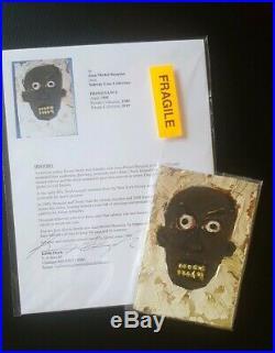 Jean michel Basquiat Original Art-authentic Post Card, artist Signed WithProvenance