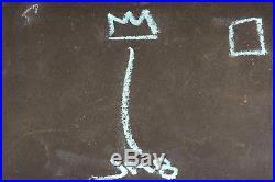 Jean-michel Basquiat Original Hand Drawn And Signed Graffiti Mixed Media