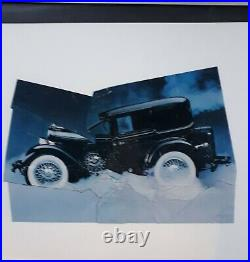 Jiri Kolar Knautschbild Collage Original signiert
