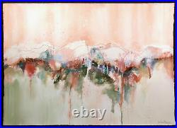 Jo Ann Brown Signs of Spring Signed Original Watercolor & Mixed Media Painting
