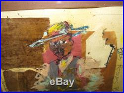 Joe Sam'84 Mixed Media Black Deputy Sheriff Listed African-American Artist