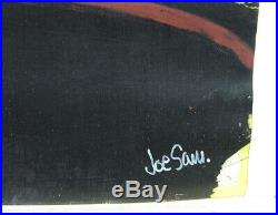Joe Sam Mixed Media Black Cheyenne Listed African-American Artist
