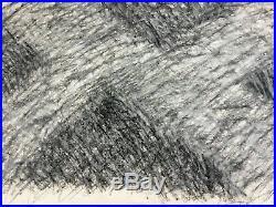 John Edwards (1938-2009) Signed Monochrome, Mixed Media Abstract Design 1975