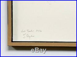 John Stezaker Lost Tracks II original unique signed titled dated collage 1996