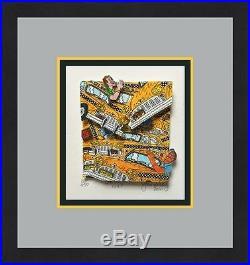 John Suchy Gridlock NYC L/ED Signed 3D POP ART Custom Framed FREE SHIP