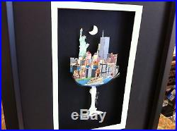 John Suchy Skyline Champagne 3-D Art Signed & Numbered Rizzi New York