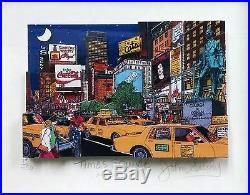 John Suchy Times Square Nyc Signed 3d Mixed Media Framed Make An Offer