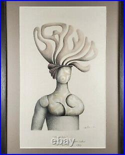 Juan Carlos Liberti, Latin American Argentina Vintage Surrealist Figure Drawing