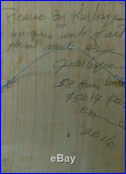 KURHAJEC JOSEPH outsider art signée datée mixed media framed