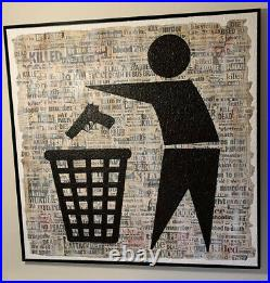 K-Guy Keep Britain Tidy Canvas Signed Edt Of 3 COA, 48 X48 Banksy Style Stencil