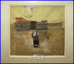 Karl Mann 1973 Abstract Collage Assemblage Listed New York Artist, Designer