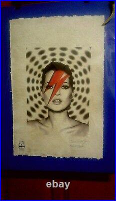 Kate Moss, Stardust' Ltd. Ed. Or AP. Print 22'x15'x Hand signed Fairchild Paris
