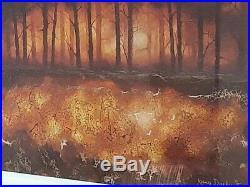 Kerry Darlington Original Commissioned Blazing Sky / Winter Tree theme