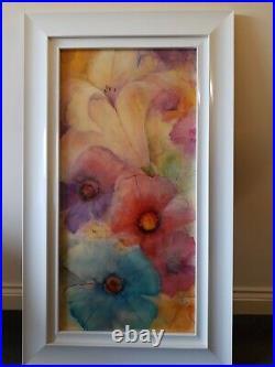 Kerry Darlington original artwork, Floral signed with certificate 18'' x 37'