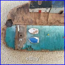 Kirsty Elson Driftwood Harbour Scene Signed