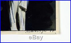 Kunst in der DDR, 1987. Übermalung von Oskar MANIGK (1934 D), handsigniert