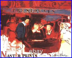LARRY RIVERS Dutch Masters II SIGNED 25 x 31.5 Mixed Media 1991 Pop Art Red