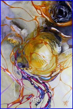 LUXUS MODERNE DESIGN MALEREI ÖL ACRYL Bild Gemälde von Bozena Ossowski 120x80