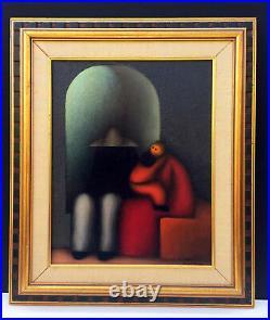 La Familia' by JESUS LEUUS, Mixed Media / Oil on Masonite Nov. 1969