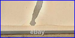 Large 1978 Theo Radic California French Swedish Artist Abstract Painting Collage