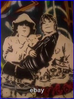 Large Original Stencil Art Spray Paint Street art, Graffiti mixed media banksy