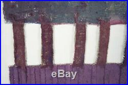Large VTG Mid Century Mixed Media Modern Art Abstract Wall Hanging Oil Painting