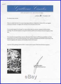 Lee Krasner Mixed Media on Canvas Sheet Painting-COA- Signed-Attr
