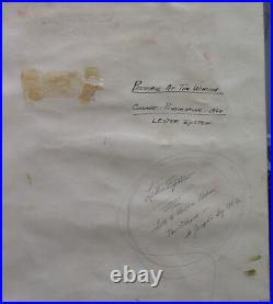 Lester Epstein Rare 1960 Abstract Ptg Noted New Orleans Bohemian Artist and Poet