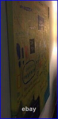 Lg Basquiat Style Handmade Abstract Expressionist POP Art Replica Study Painting