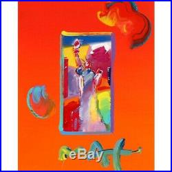 Liberty by Peter Max Acrylic Mixed Media on Paper