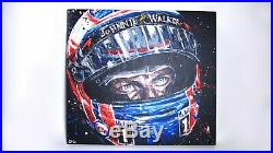 Limited Edition Paul Oz Art Hand Embellished Canvas Print of Jenson Button