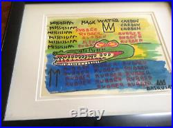Listed Jean-Michel Basquiat Original Mixed Media Drawing. Marker and Paint