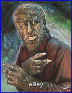 Lon Chaney The Wolf Man HOUSE OF DRACULA Mixed Media Art by Frederick Cooper