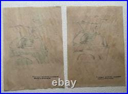 Lot of 2 Roy Lichtenstein mixed media drawing on paper signed & stamped