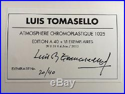 Luis Tomasello Chromoplastique 1025 hand signed wall sculpture