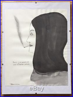 MARCEL DZAMA Original Signed Mixed-Media Painting 2004 Exhibited RICHARD HELLER