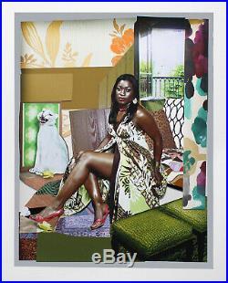 MICKALENE THOMAS I've Been Good To Me SIGNED 56.5 x 45 Mixed Media 2015
