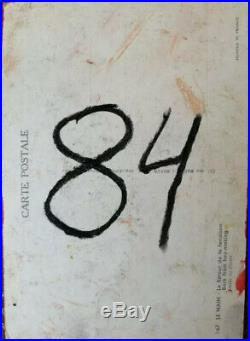 MIX MEDIA POSTCARD JEAN-MICHEL BASQUIAT 1984 GOOD CONDITION WithCOA Free Shipping