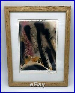 Maggi Hambling Original Mixed media Abstract Painting Signed