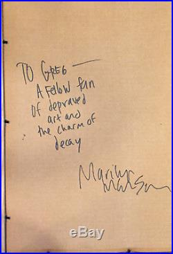 Marilyn Manson Mixed Media Art Print Self Portrait Dope Show Cover Art Ed 1/2