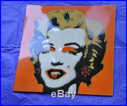 Marilyn Monroe Warhol handmade art work unique piece fantastic appearance