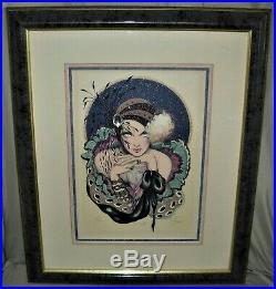 Mary Vickers Sunset Mixed Media Framed Matted and Signed #101 of 350