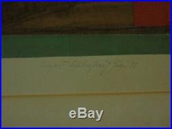 Materialcollage aus farbigem Papier, Funier und gewebtem Stoff, Bauhaus, 1931