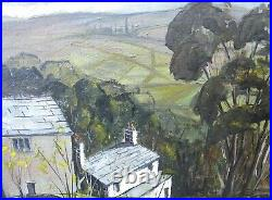 Maurice. A. Greenwood RCA Acrylic painting board mixed media Welsh Art Cottages