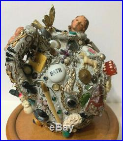 Memory Jug with Antiques as Comtemporary Folk Art