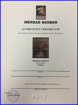 Mersad Berber, Homage to Velazquez Infanta, 1979, original mixedmedia, 134x94 cm