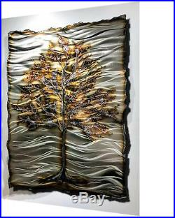 Metal Wall Sculpture Contemporary Abstract Large Copper Aluminum Art Deco Modern