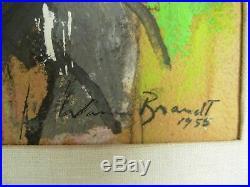 Mid Century Abstract Mixed Media Painting 1955