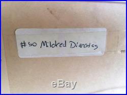 Mildred Dienstag Signed Original Sunflower Serigraph 1974 Artist Proof